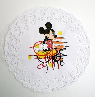 Denis BRUN - Angry Mickey with Lipstick - 2015