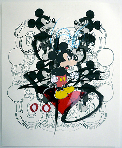 Denis BRUN - Black Angry Mouse 10 - 2015